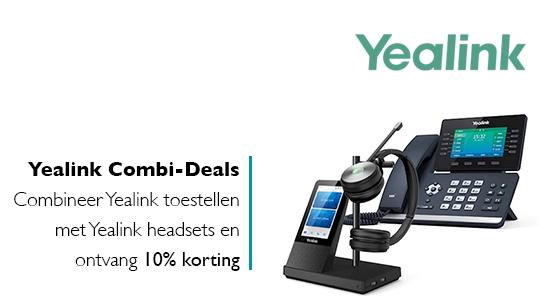 Yealink Combi-Deals: 10% korting op combinatie toestel en headset